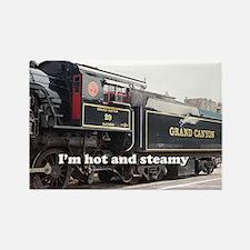 I'm hot and steamy: train engine, Arizona, USA 4 R