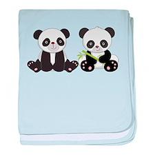 Cute Pandas baby blanket