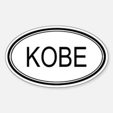 Kobe Oval Design Oval Decal