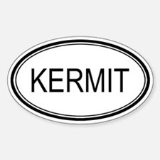 Kermit Oval Design Oval Decal