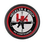 Heckler and Koch Large Wall Clock