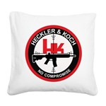 Heckler and Koch Square Canvas Pillow