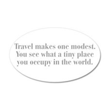 travel-makes-one-modest-bod-gray Wall Decal