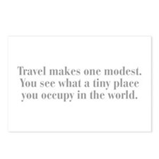 travel-makes-one-modest-bod-gray Postcards (Packag