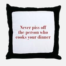 never-piss-off-bod-dark-red Throw Pillow