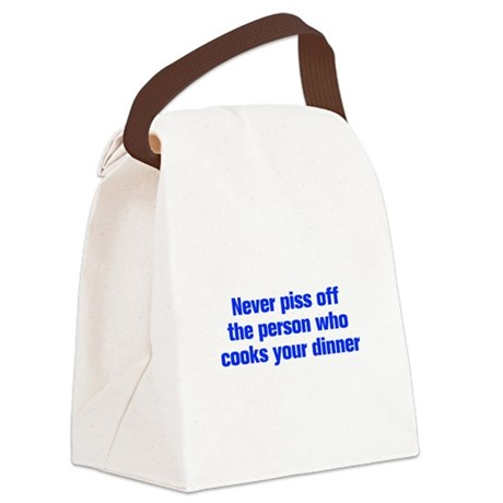 never-piss-off-ak-blue Canvas Lunch Bag