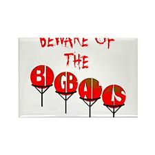 Beware the big balls Rectangle Magnet