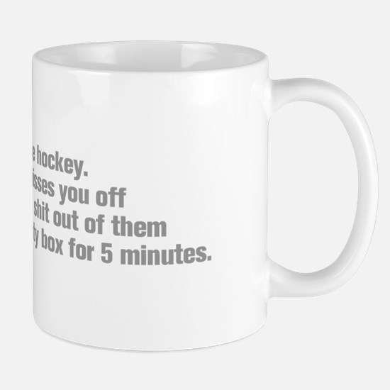 life-should-be-like-hockey-ak-gray Mug