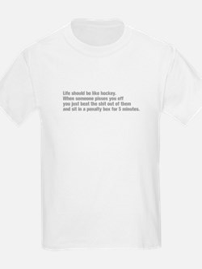 life-should-be-like-hockey-ak-gray T-Shirt