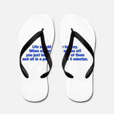 life-should-be-like-hockey-ak-blue Flip Flops