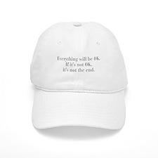 everything-will-be-ok-bod-gray Baseball Baseball Cap