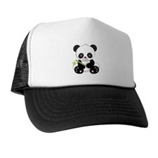 Panda With Bamboo Hat