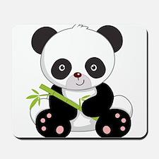 Panda With Bamboo Mousepad