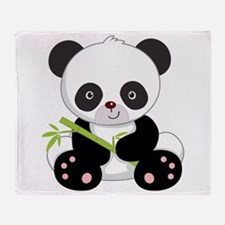 Panda With Bamboo Throw Blanket