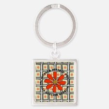 Retired Postal Worker Square Keychain