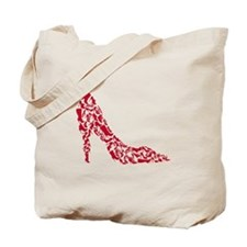 shoe silhouette with different shoes Tote Bag