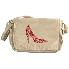 shoe silhouette with different shoes Messenger Bag