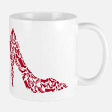 shoe silhouette with different shoes Mug