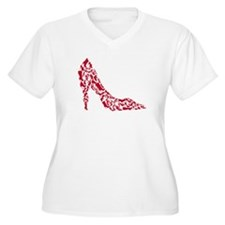shoe silhouette with different shoes Plus Size T-S