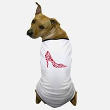 shoe silhouette with different shoes Dog T-Shirt