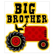 Red Tractor Big Brother Wall Art Canvas Art
