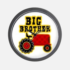 Red Tractor Big Brother Wall Clock