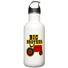 Red Tractor Big Brother Sports Water Bottle
