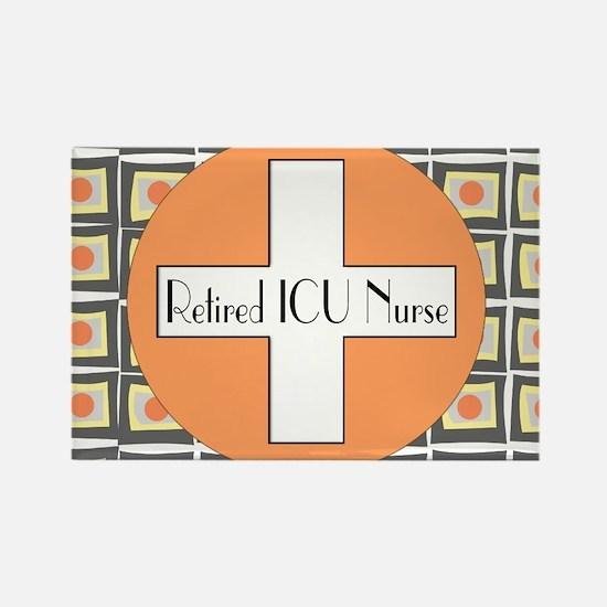 ICU Nurse 4 retired Rectangle Magnet