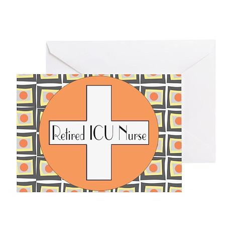ICU Nurse 4 retired Greeting Card
