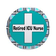 ICU nurse 3 retired Ornament (Round)