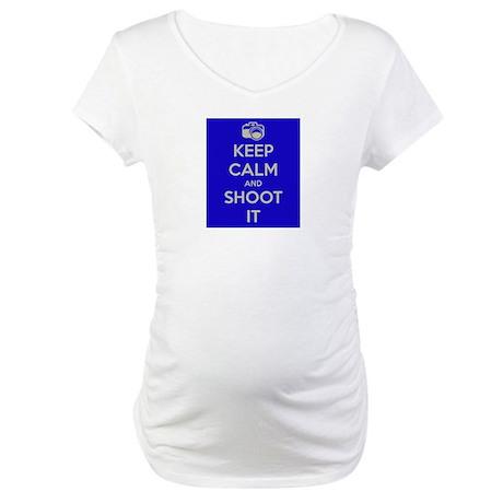 Keep Calm & Shoot It Maternity T-Shirt