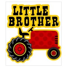 Red Tractor Little Brother Wall Art Poster
