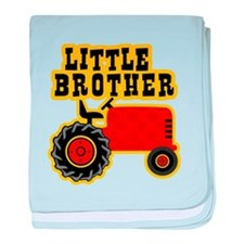 Red Tractor Little Brother baby blanket