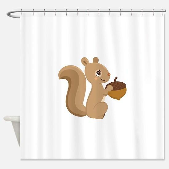 Cartoon Squirrel Shower Curtain