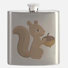 Cartoon Squirrel Flask