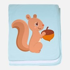 Cartoon Squirrel baby blanket