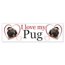 Pug Love Bumper Bumper Sticker