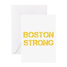 boston-strong-cap-yellow Greeting Card