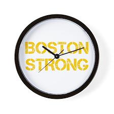 boston-strong-cap-yellow Wall Clock