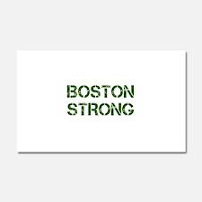 boston-strong-cap-dark-green Car Magnet 20 x 12