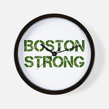 boston-strong-cap-dark-green Wall Clock