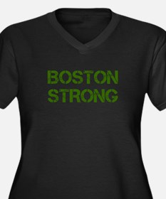 boston-strong-cap-dark-green Plus Size T-Shirt