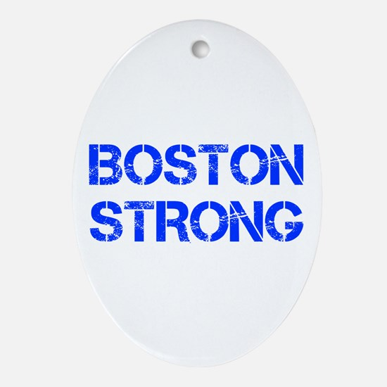 boston-strong-cap-blue Ornament (Oval)