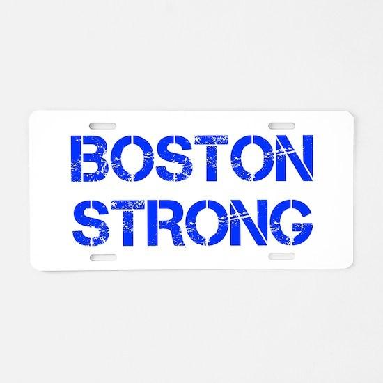 boston-strong-cap-blue Aluminum License Plate
