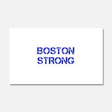 boston-strong-cap-blue Car Magnet 20 x 12