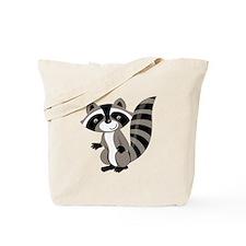 Cartoon Raccoon Tote Bag