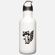 Cartoon Raccoon Sports Water Bottle