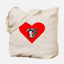 Raccoon Heart Tote Bag