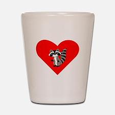 Raccoon Heart Shot Glass