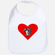 Raccoon Heart Bib
